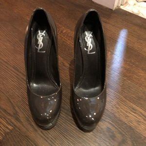 YSL platform heels